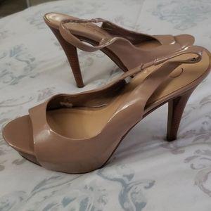 Jessica Simpson Nude Patent Platform Heel